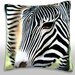 <strong>Zebra, Close-Up Throw Pillow</strong> by Maxwell Dickson
