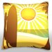<strong>Silhouette of Surfer on Beach Throw Pillow</strong> by Maxwell Dickson