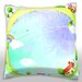 Maxwell Dickson Rural Houses in Circle Throw Pillow