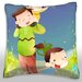 <strong>Mother and Children at Outdoor Throw Pillow</strong> by Maxwell Dickson