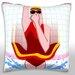 Maxwell Dickson Girl Diving in Tile Throw Pillow