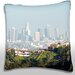 Panoramic View of  Los Angeles, California, USA Throw Pillow by Maxwell Dickson