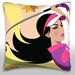 <strong>Woman Golfing Throw Pillow</strong> by Maxwell Dickson