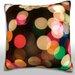 Maxwell Dickson Blurred Christmas Lights Velour Throw Pillow