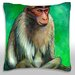 <strong>Portrait of Macaque Monkey Throw Pillow</strong> by Maxwell Dickson