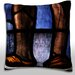 Maxwell Dickson Decorative Stained Glass Window Throw Pillow