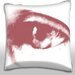 Maxwell Dickson Blurred Eyeball Concept Throw Pillow