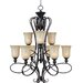 Wildon Home ® Potpurri 9 - Light Multi - Tier Chandelier