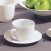 Ten Strawberry Street Classic White 6 oz. Teacup and Saucer