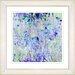"""Studio Works Modern """"Outside My Window Sky"""" by Zhee Singer Framed Giclee Print Fine Art in Blue"""