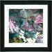 """<strong>Studio Works Modern</strong> """"Annapolis Floral Aqua"""" by Zhee Singer Framed Giclee Print Fine Art in Pink"""