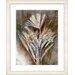 "<strong>Studio Works Modern</strong> ""Harvest Floral - Amber"" by Zhee Singer Framed Fine Art Giclee Print"