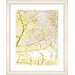 "<strong>""Filigree Flower Branches - Gold"" by Zhee Singer Framed Fine Art Gi...</strong> by Studio Works Modern"
