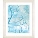 "<strong>""Filigree Flower Branches - Turquoise"" by Zhee Singer Framed Fine A...</strong> by Studio Works Modern"
