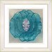 "<strong>Studio Works Modern</strong> ""Crystal Flower - Turquoise"" by Zhee Singer Framed Fine Art Giclee Print"