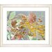 """<strong>""""Rococo Peacock - Orange"""" by Zhee Singer Framed Fine Art Giclee Print</strong> by Studio Works Modern"""