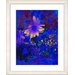 "<strong>""Blue Abstract Daisies - Yellow"" by Zhee Singer Framed Fine Art Gic...</strong> by Studio Works Modern"