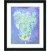 """""""Blue Dansing Bud - Ocean Blue"""" by Zhee Singer Framed Fine Art Gicl... by Studio Works Modern"""