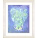 "<strong>""Blue Dansing Bud - Ocean Blue"" by Zhee Singer Framed Fine Art Gicl...</strong> by Studio Works Modern"