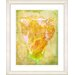 "<strong>Studio Works Modern</strong> ""Yellow Dansing Bud - Honey"" by Zhee Singer Framed Fine Art Giclee Print"