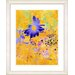 """<strong>Studio Works Modern</strong> """"Yellow Daisy Cups - Blue"""" by Zhee Singer Framed Fine Art Giclee Print"""
