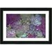 """Purple Scented Bloom"" Framed Fine Art Giclee Print"