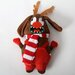 "Santa""s Lucky Dog ""Antler Ugly Dog"" Holiday Plush Toy"