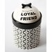 "Unleashed ""My Dog Is My Loyal Friend"" Ceramic Treat Jar"