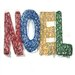 <strong>Brite Star</strong> Spun Glitter 150 Light Noel Sign Silhouette