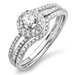 14K White Gold Round Cut Diamond Bridal Set