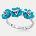 Flowers Sterling Silver Turquoise Ring