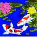 "8"" x 8"" Koi Fish Art Tile in Multi"