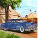 "<strong>En Vogue</strong> 8"" x 8"" Classic Car Art Tile in Blue"