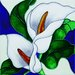 "8"" x 8"" Calla Lilies Art Tile in White"