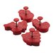 4 Piece Christmas Fondant Press Set