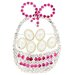 Cultured Pearl Easter Basket Crystal Brooch