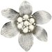 Flower Cultured Pearl Brooch