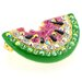 Watermelon Perovskia Crystal Pin Fruit Crystal Brooch