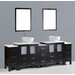 "Contemporary 96"" Double Vanity Set by Bosconi"