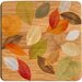 Golden Leaves I Bamboo Coaster