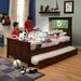 Shaker Twin Panel Bed with Trundle, Soccer and Dolphins Interchangeable HeadLightz