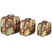 <strong>River Cottage Gardens</strong> 3 Piece Paris Decorative Suitcase Set