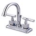 Claremont Double Handle Centerset Bathroom Faucet with Brass Pop-Up Drain