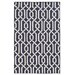 <strong>Matrix Black Geometric Rug</strong> by Pantone Universe