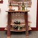 Barrel Head Tabletop Wine Rack with Glass Sliders
