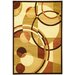 Moderno Light Brown Circles Rug