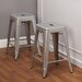"24"" Avalon Metal Stackable Stool"