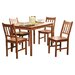 5 Piece Bamboo Dining Set