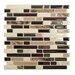 """10"""" x 10"""" Mosaik Self Adhesive Wall Tile in Bellagio Keystone"""