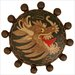 "Cloisonne Beaded Dragon 1.5"" Pop-Up Bathroom Sink Drain"